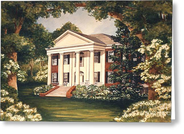 Hermitage Plantation Greeting Cards - The Grove Tallahassee Florida Greeting Card by Audrey Peaty