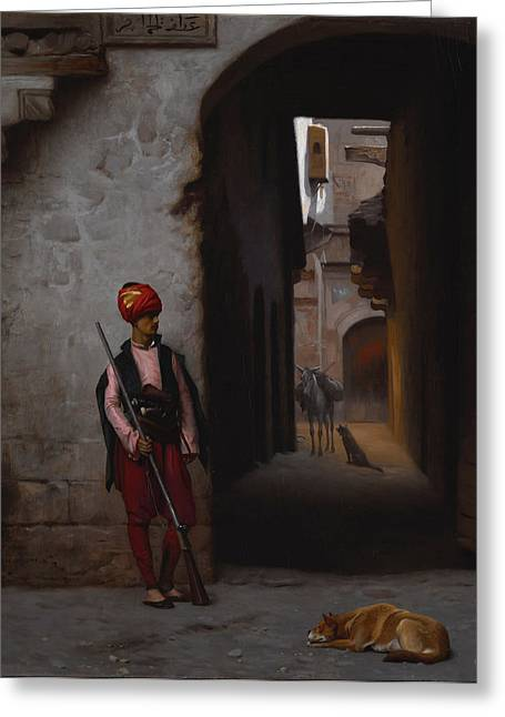 Gerome Greeting Cards - The Guard Greeting Card by Jean-Leon Gerome