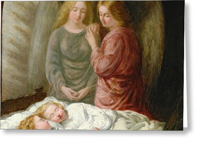 The Guardian Angels  Greeting Card by Joshua Hargrave Sams Mann