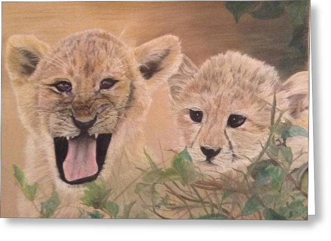Growling Greeting Cards - The Guardian Greeting Card by JulieB