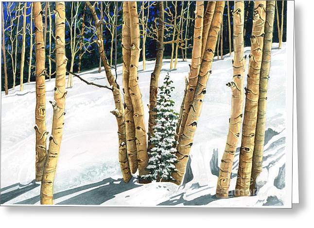 The Guardians Greeting Card by Barbara Jewell