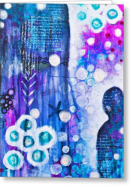 Angel Blues Greeting Cards - The Guardians Greeting Card by Melissa Sherbon