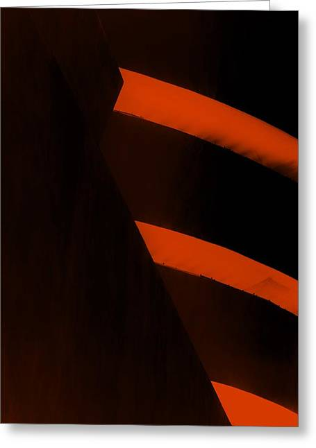 The Guggenheim Greeting Cards - THE GUGGENHEIM COLOR COLLECTION in BLACK ORANGE Greeting Card by Rob Hans