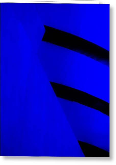 The Guggenheim Greeting Cards - THE GUGGENHEIM COLOR COLLECTION in WHITE BLUE Greeting Card by Rob Hans