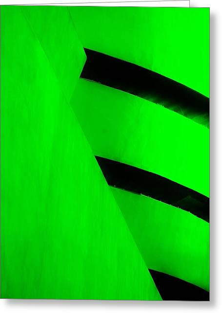 The Guggenheim Greeting Cards - THE GUGGENHEIM COLOR COLLECTION in WHITE GREEN Greeting Card by Rob Hans