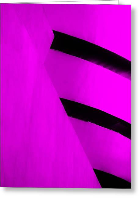 The Guggenheim Greeting Cards - THE GUGGENHEIM COLOR COLLECTION in WHITE PURPLE Greeting Card by Rob Hans