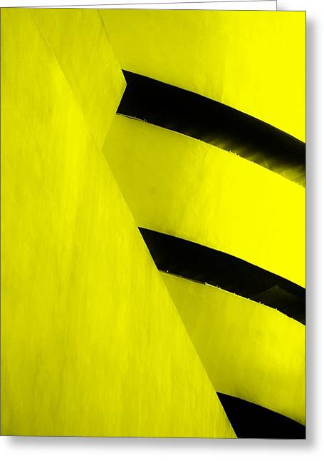 The Guggenheim Greeting Cards - THE GUGGENHEIM COLOR COLLECTION in WHITE YELLOW Greeting Card by Rob Hans
