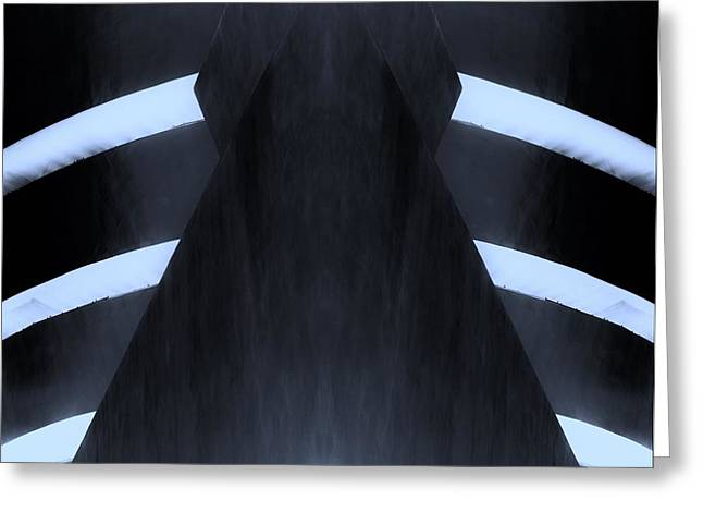 The Guggenheim Greeting Cards - THE GUGGENHEIM MIRROR COLLECTION in DARK CYAN Greeting Card by Rob Hans