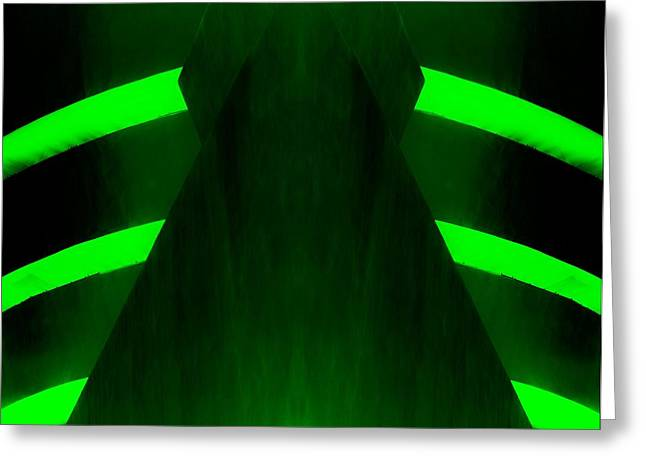 The Guggenheim Greeting Cards - THE GUGGENHEIM MIRROR COLLECTION in DARK GREEN Greeting Card by Rob Hans