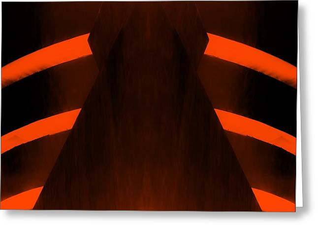The Guggenheim Greeting Cards - THE GUGGENHEIM MIRROR COLLECTION in DARK ORANGE Greeting Card by Rob Hans