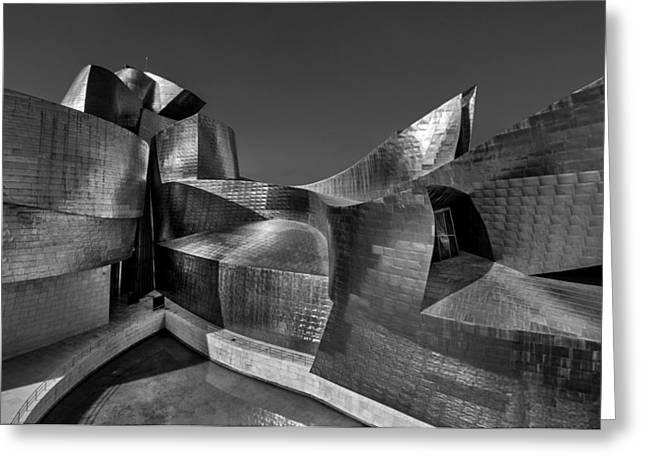 Titanium White Greeting Cards - The Guggenheim Museum Bilbao  Greeting Card by Ayhan Altun