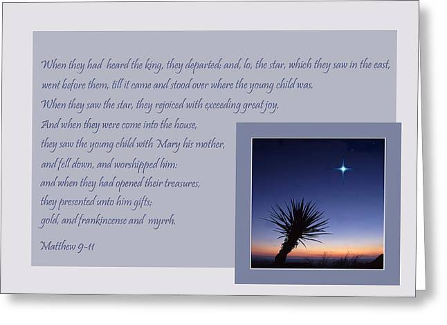Scripture Cards Greeting Cards - The Guiding Star Greeting Card by David and Carol Kelly