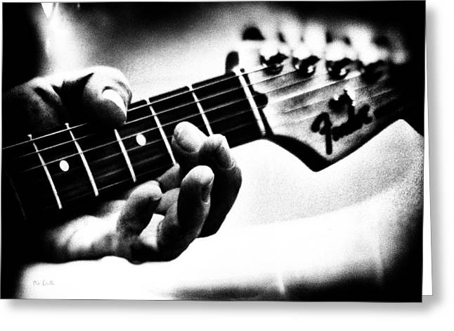 Slowhand Greeting Cards - The Guitar Greeting Card by Bob Orsillo