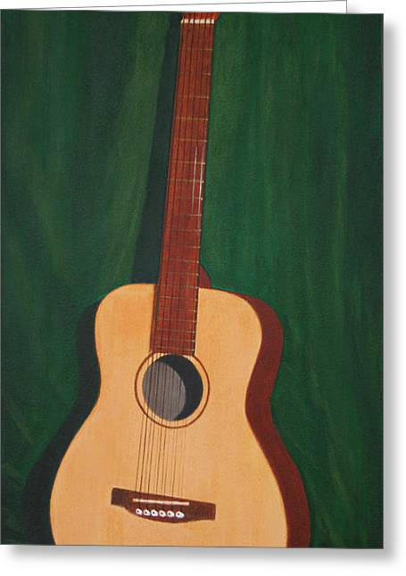 Mahogany Red Greeting Cards - The Guitar  Greeting Card by Jimmie Bartlett