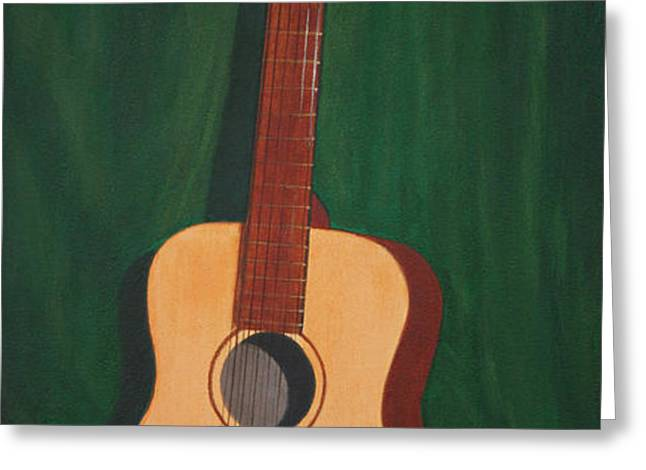 The Guitar  Greeting Card by Jimmie Bartlett