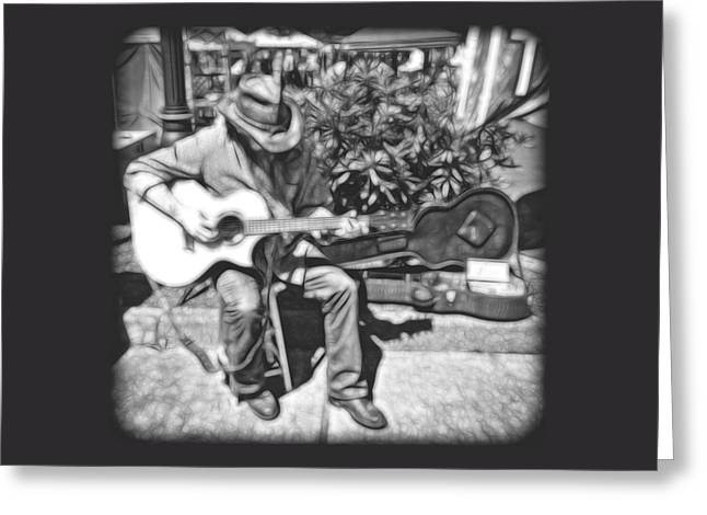 Photo Art Gallery Greeting Cards - The Guitar Player Greeting Card by Thom Zehrfeld