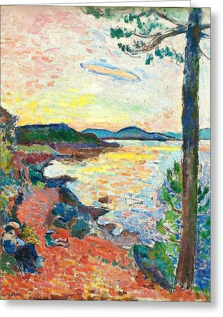 Saint-tropez Greeting Cards - The Gulf Of Saint Tropez Greeting Card by Henri Matisse