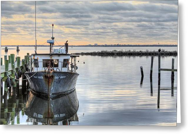 Florida Panhandle Greeting Cards - The Gulf Queen Greeting Card by JC Findley