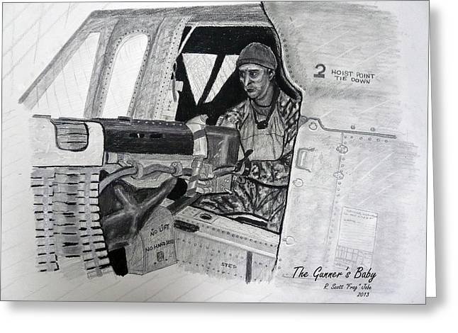 Rescue Drawings Greeting Cards - The Gunners Baby Greeting Card by Frag Jobe