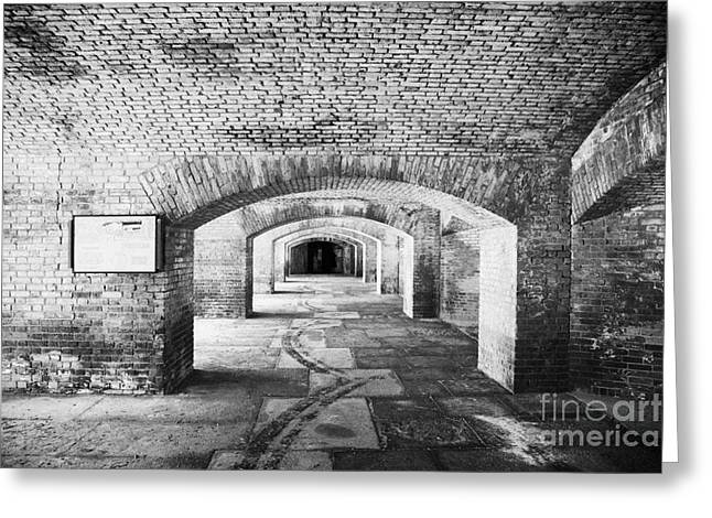Fort Jefferson Greeting Cards - The Gunrooms In Fort Jefferson Dry Tortugas National Park Florida Keys Usa Greeting Card by Joe Fox