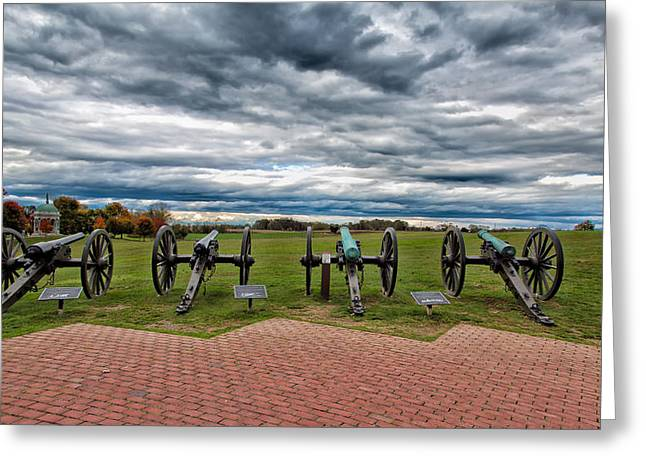 Battlefield Site Greeting Cards - The Guns of Antietam Greeting Card by John Bailey