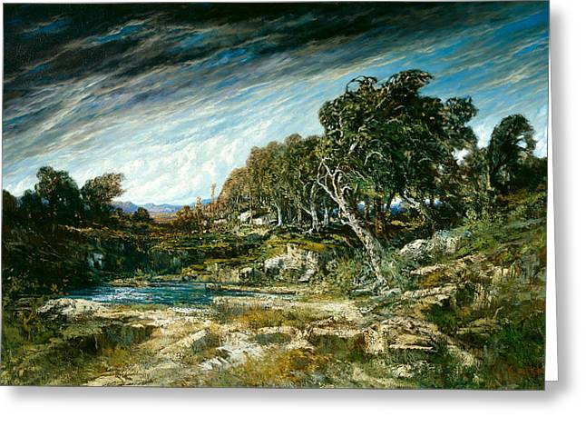 Gusts Greeting Cards - The Gust of Wind Greeting Card by Gustave Courbet