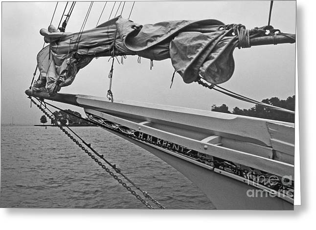 Ocean Art Photography Greeting Cards - The H M Krentz Greeting Card by Skip Willits