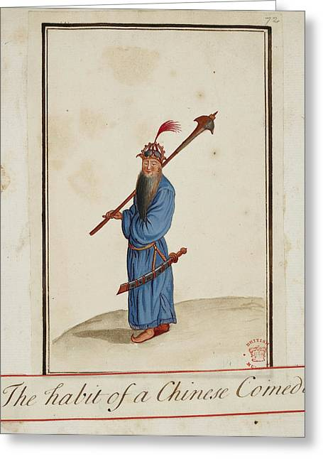 The Habit Of A Chinese Comedian Greeting Card by British Library