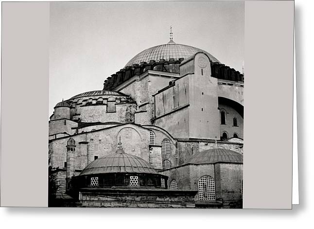 The Hagia Sophia Greeting Card by Shaun Higson