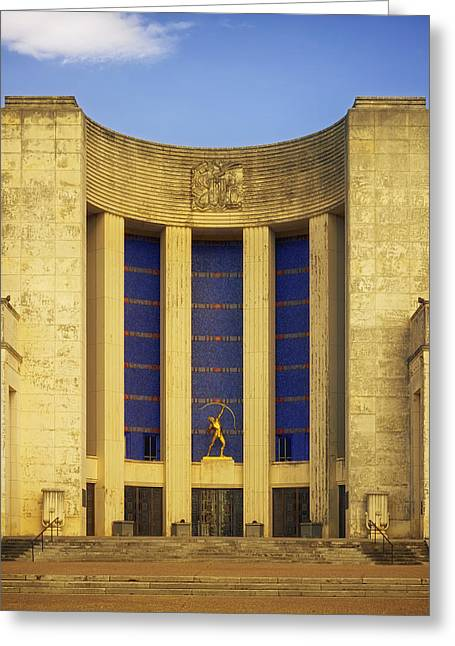 Historic Statue Greeting Cards - The Hall of State Building at Fair Park Dallas Greeting Card by Mountain Dreams