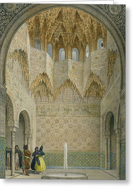 Andalucia Greeting Cards - The Hall Of The Abencerrages Greeting Card by Leon Auguste Asselineau