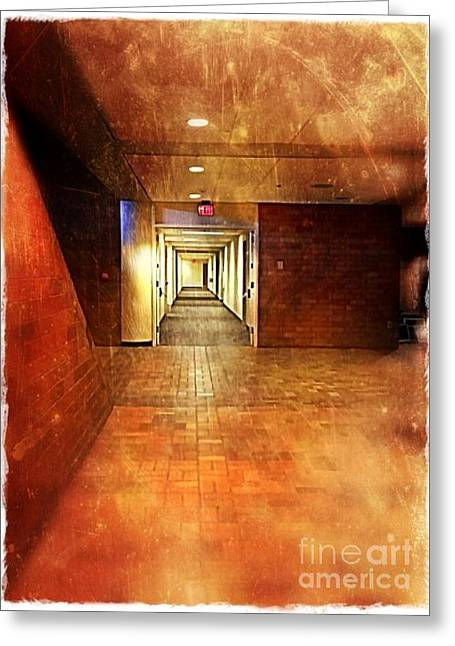 Work Place Greeting Cards - The Hall Greeting Card by Perry Webster