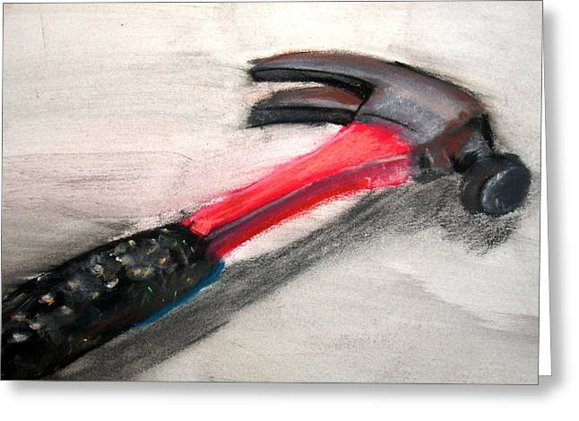 Impacting Pastels Greeting Cards - The Hammer Greeting Card by Ryan Burton