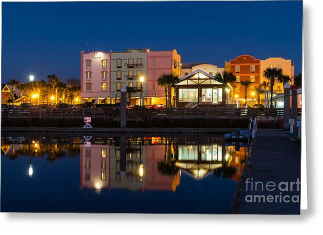 Beach At Night Greeting Cards - The Hampton Inn and Maritime Museum Fernandina Beach Florida Greeting Card by Dawna  Moore Photography