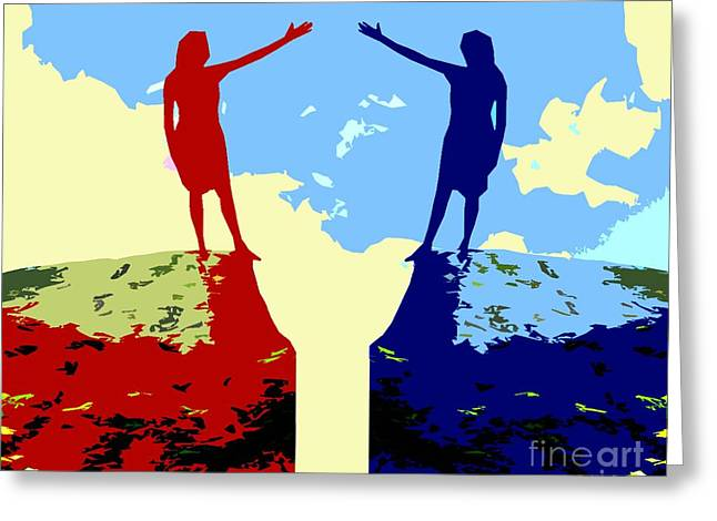 The Hand Of Friendship Greeting Card by Patrick J Murphy