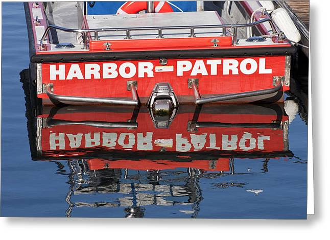 Deterrent Greeting Cards - The Harbor Patrol Greeting Card by Art Block Collections