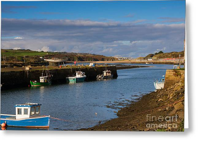 The Harbour At Hayle Cornwall Greeting Card by Louise Heusinkveld