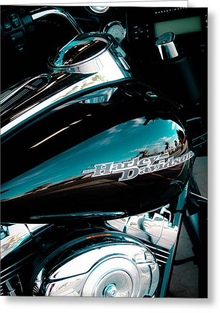 Classic Cycles Greeting Cards - The Harley Greeting Card by David Patterson