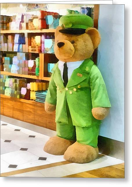 Harrods Greeting Cards - The harrods Bear Greeting Card by Steve Taylor