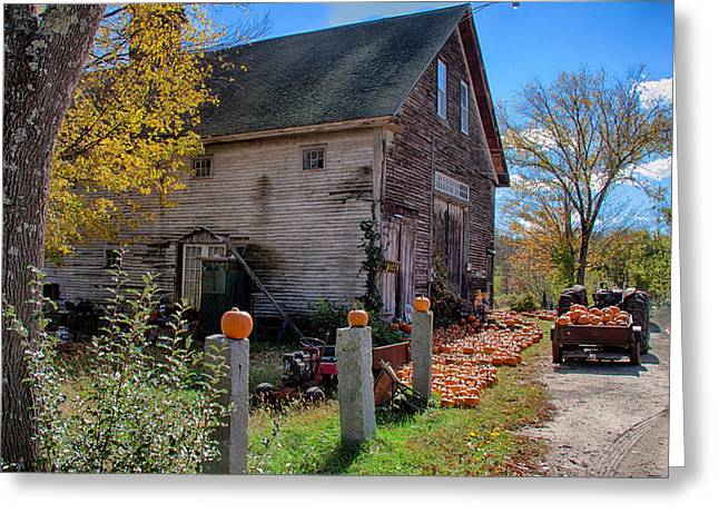 The harvest is in Greeting Card by Jeff Folger