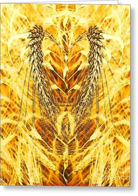 Harvest Deco Greeting Cards - The Harvest Is Plentiful The Laborers Are Few Greeting Card by PainterArtist FIN