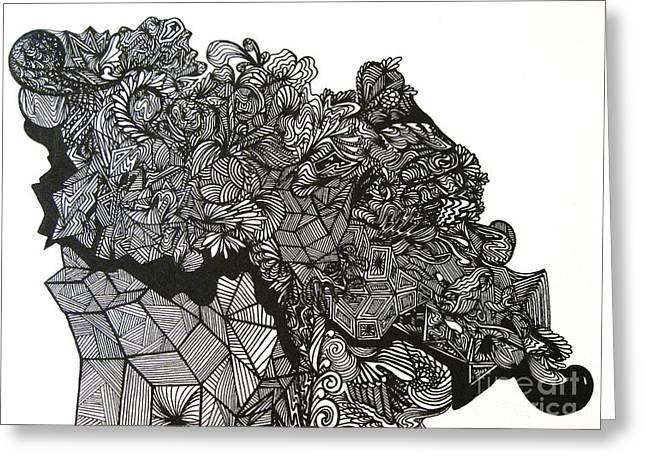Geometric Artwork Greeting Cards - The Harvest Greeting Card by Stephanie  Varner