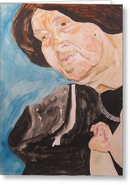 Watercolorist Greeting Cards - The Hassidic Grandmother Greeting Card by Esther Newman-Cohen