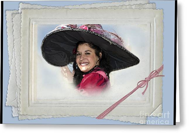 Process Greeting Cards - The Hat Greeting Card by Betty LaRue