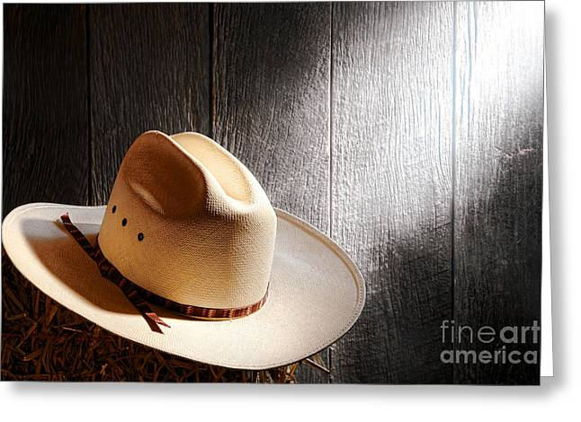 Cowboy Hats Greeting Cards - The Hat Greeting Card by Olivier Le Queinec