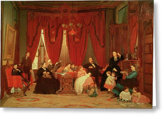 The Hatch Family Greeting Card by Eastman Johnson