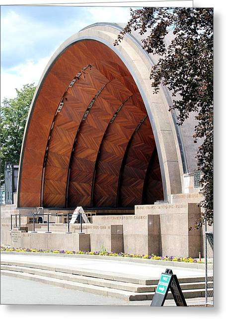 Boston Ma Greeting Cards - The Hatch Shell Greeting Card by Roberto De Souza