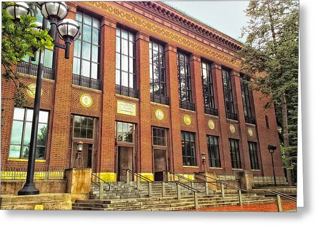 University Of Michigan Greeting Cards - The Hatcher Graduate Library - University of Michigan Greeting Card by Mountain Dreams