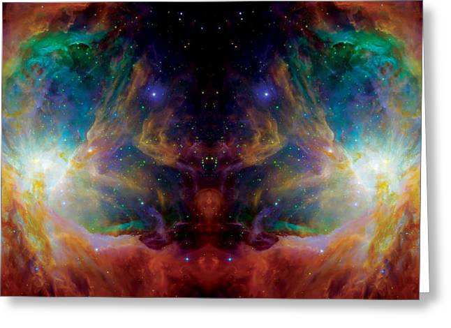 Constellations Greeting Cards - The Hatchery Reflection - Orion Panorama  Greeting Card by The  Vault - Jennifer Rondinelli Reilly