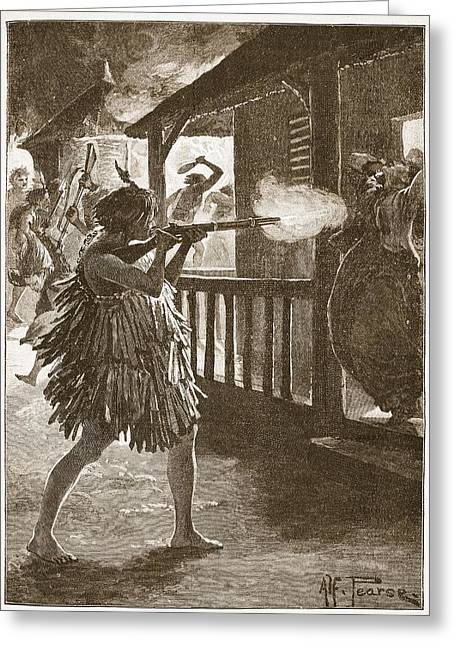 Civilians Greeting Cards - The Hauhaus Shot Or Bayoneted Them - Greeting Card by Alfred Pearse